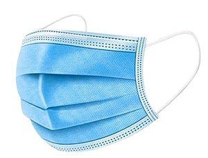 Mascara Cirúrgica Descartável Tripla Camada e Elástico IIR (caixa c/ 50 unid.)