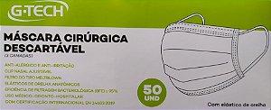 Máscara Descartável Cirúrgica Tripla TNT - Pct c/ 50 pçs