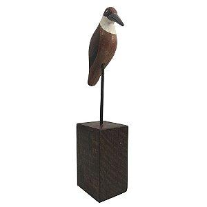 Pássaro com Base Madeira - MG