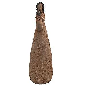 Escultura Mãe com Criança de Colo em Barro - MG