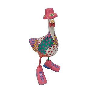 Galinha de Bota com Chapéu Colorido - MG