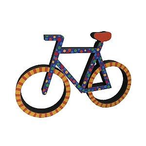 Bicicleta Colorida em MDF - MG