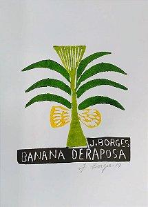 Xilogravura J. Borges Banana de Raposa P - PE
