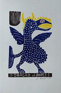 Xilogravura J. Borges O Dragão M - PE