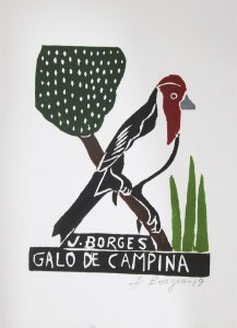 Xilogravura J. Borges Galo de Campina P- PE