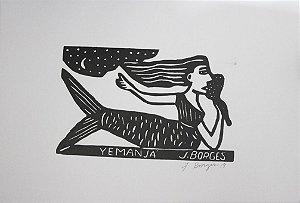 Xilogravura J. Borges Yemanjá M - PE
