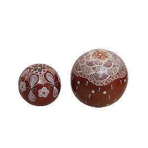 Jogo de Esferas Decorativas Pedrelina
