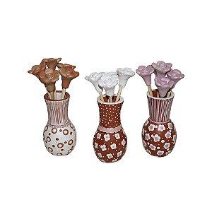 Jogo de Vasos c/ Flores Roberta