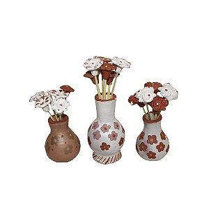 Jogo de Vasos c/ Flores Elizangêla