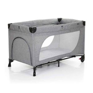 BERÇO PORTÁTIL MOONLIGHT SET WOVEN GREY - ABC DESIGN