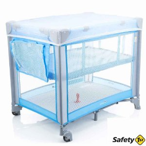 BERÇO PORTÁTIL MINI PLAY SAFETY C55B POP BLUE