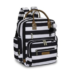 Mochila Maternidade Urban Brooklyn Black and White - Masterbag