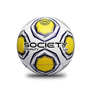 Bola de Futebol Society Penalty S11 R2 21 Amarelo com Roxo