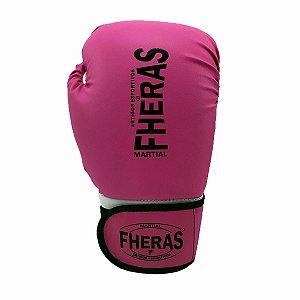 Luva de Boxe/Muay Thai Fheras Orion Tradicional Rosa