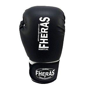 Luva de Boxe/Muay Thai Fheras Orion Tradicional Preto/Branco