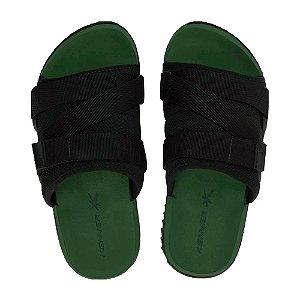 Sandália Kenner Slide Hyp3r-Z Preto com Verde Masculino