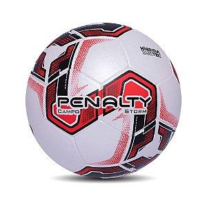 Bola de Futebol Campo Penalty Storm 21 Preto com Vermelho