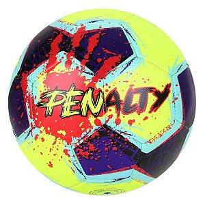 Bola de Futebol Campo Penalty Giz N4 21 Amarelo com Roxo