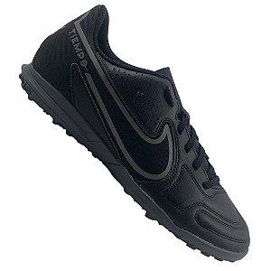 Chuteira Society Nike Tiempo Legend 9 Club Preta