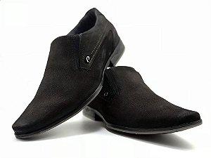 Sapato Social Pegada Wood Brown Couro Nubuck Marrom Escuro