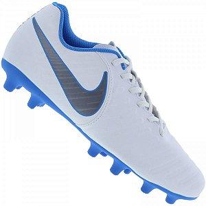 Chuteira Nike Campo Legend 7 Club - Branco/Azul