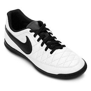 Chuteira Nike Futsal Majestry - Branco/Preto