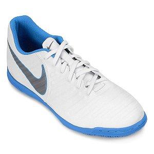 Chuteira Nike Tiempo Legend 7 Club - Branco/Azul