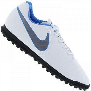 Chuteira Nike Society Legendx 7 Club - Branco/Azul