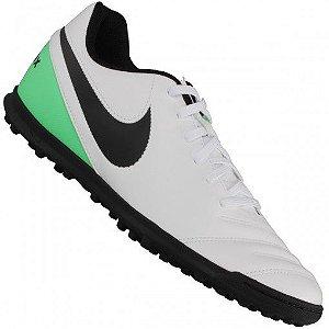 Chuteira Nike Society Tiempo Rio 3 - Branco/Verde