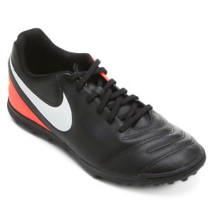 Chuteira Nike Society Tiempo Rio 3 - Preto/Rosa