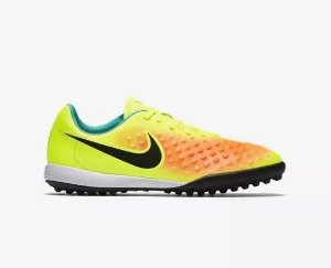Chuteira Nike Society MagistaX Opus 2 - Verde/Laranja