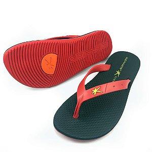 Sandália Kenner Summer Torcida Hat 8 Preta com Vermelha