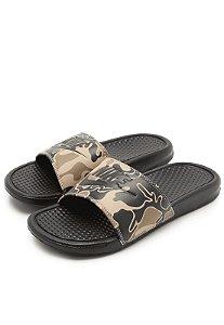 Sandália Nike Slide Benassi JD Print Verde Militar Masculino