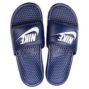 Sandália Nike Slide Benassi Jdi Azul com Branco Masculino