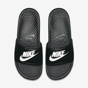 Sandália Nike Slide Benassi Jdi Preto com Branco Masculino