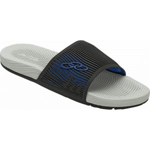 Sandália Olympikus Slide Cancun Preto com Azul Masculino