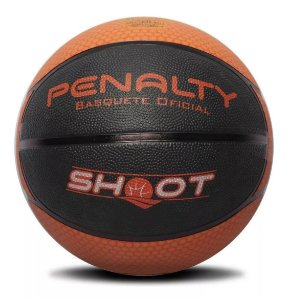 Bola de Basquete Penalty Shoot 6 Nacional Preta com Laranja