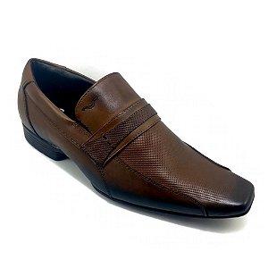Sapato Social Mariner Couro Lance Vick Marrom Masculino