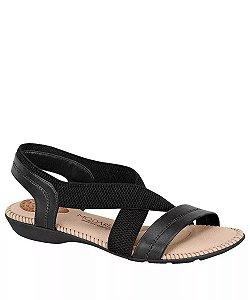 Sandália Modare Elástico Favado Preto Feminino