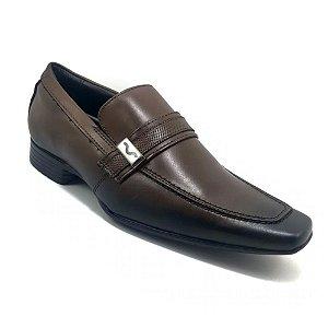 Sapato Social Mariner Couro Vick Verniz Marrom Masculino
