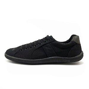 Sapatênis Rei Shoes Lona Sola Baixa Preto Total Masculino