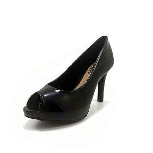 Sapato Beira Rio Feminino Peep Toe  Verniz Cristal 4180.101