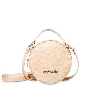 Bolsa Petite Jolie Mini Round PJ4871 J-lastic Croco - Nude