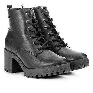 Bota Coturno Ramarim Ankle Boot Tratorada Napa Bi Plus Preto