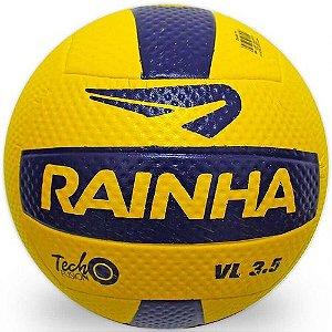 Bola de Volei Rainha Tech Fusion VL 3.5 Amarela com Azul