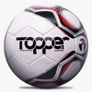 Bola de Futebol Topper Campo Oficial Td2 Maestro Preta