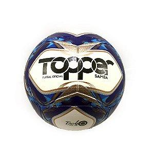 Bola Futebol Topper Futsal Oficial Samba Tech Fusion Azul
