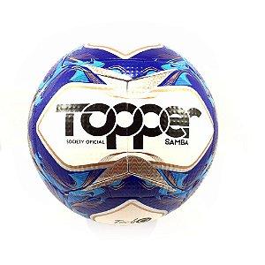 Bola de Futebol Topper Society Oficial Samba - Azul