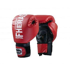 Luva Boxe Muay Thai Fheras Orion Oz Vermelha com Preta