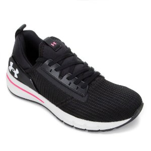 Tênis Under Armour Charged Cruize Preto com Rosa Feminino